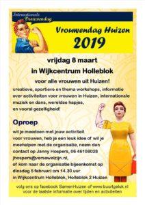 huizen vrouwendag 08 maart 2019