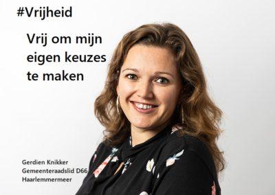 Gerdien Knikker Raadslid D66 internationale vrouwendag fotocampagne 8 maart 2020 vrijheid