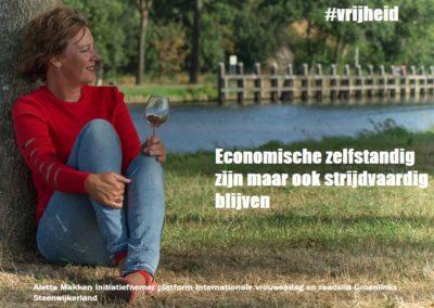 aletta makken internationale vrouwendag fotocampagne wat is jouw vrijheid