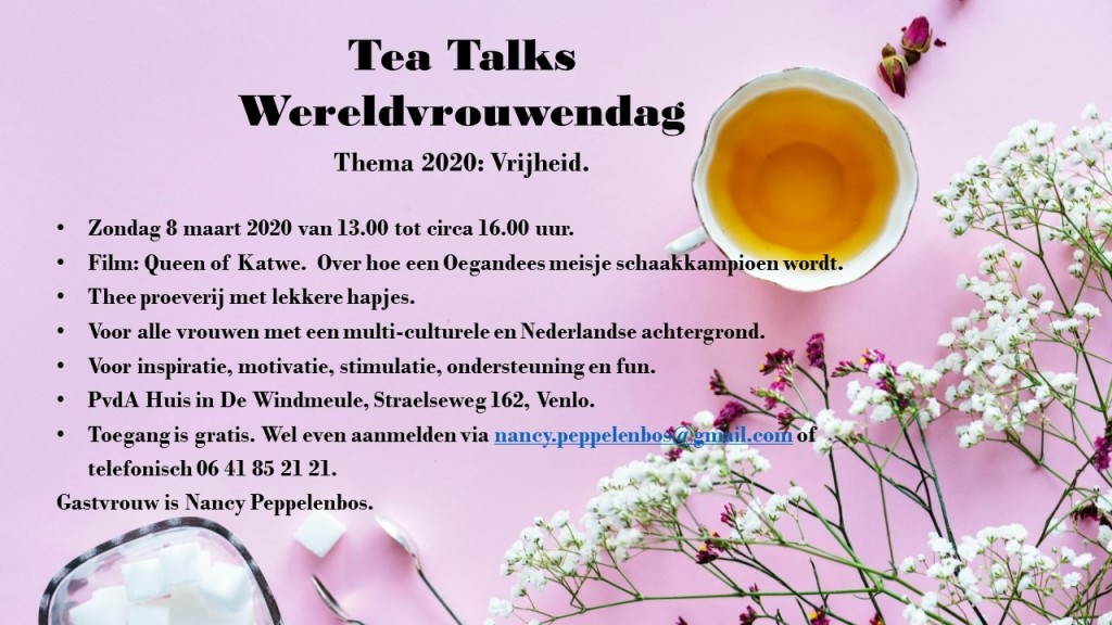 Venlo Internationale Vrouwendag Thea Talks