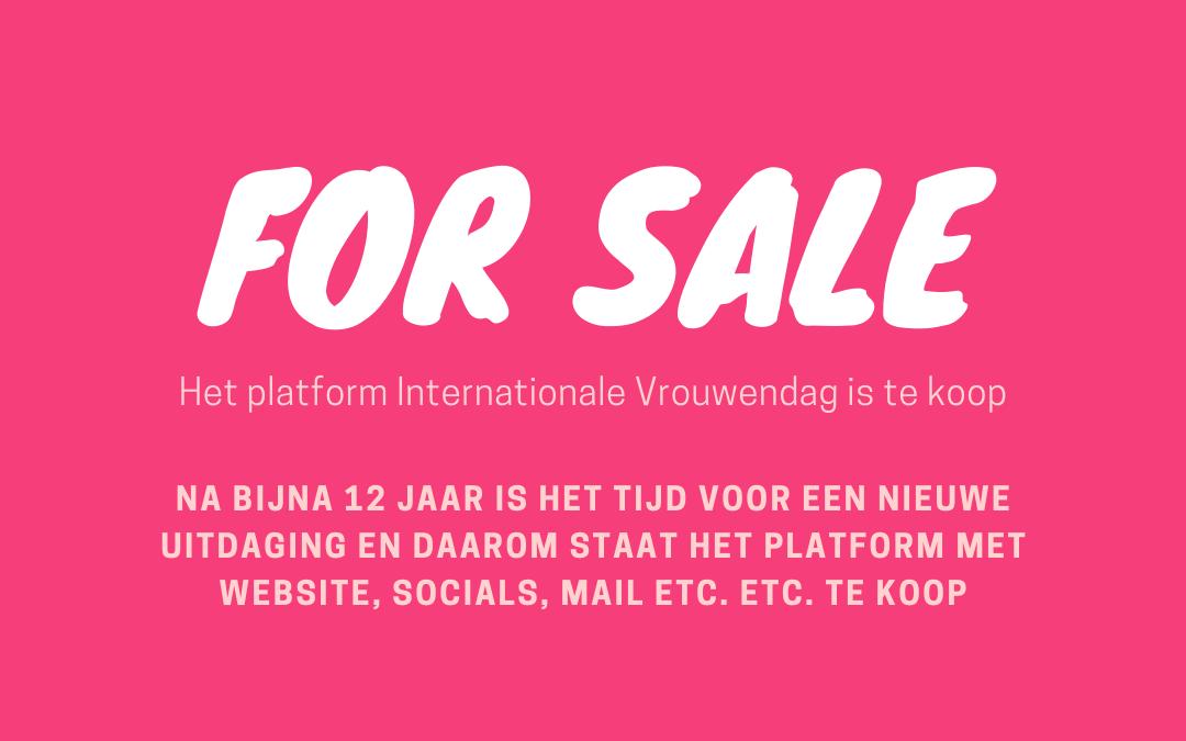 platform internationale vrouwendag is te koop